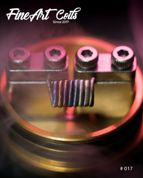 Handmade Coil 017 Fine Fused Clapton Stacking
